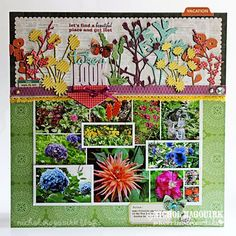 Beautiful LO from Nichol Magouirk on Kerri Bradford's blog.  It's gives me ideas on how to use the new flower designs available from Kerri Bradford