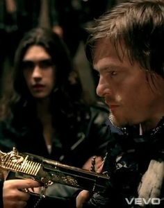 "Norman Reedus in Lady Gaga ""Judas"" video"