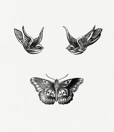 If you look at the birds' eyes and the butterfly's antenna, there is a :)