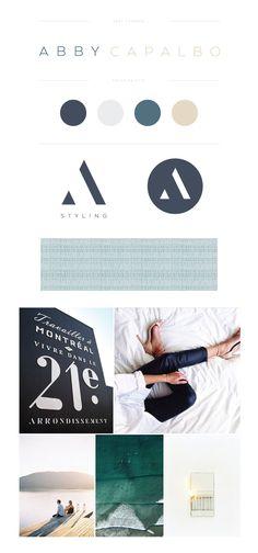 Abby Capalbo by Lauren Ledbetter - Brand Designer Hotel Branding, Logo Branding, Luxury Branding, Brand Identity Design, Branding Design, Design Logos, Branding Ideas, Logo Ideas, Logo Inspiration