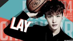 CALENDAR 2014~! Lay oppa~ you are so hoot~! keke i love you for being so manly right here and right now~! keke >.<