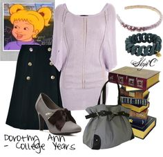 """Dorothy Ann - College Years Outfit"" by rubytyra on Polyvore"