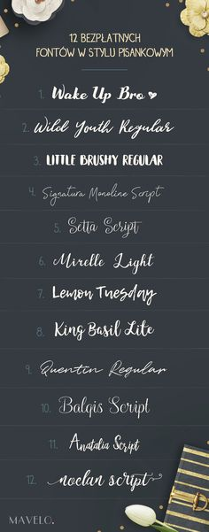12 bezpłatnych, pisankowych fontów