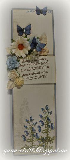 Hei hei alle sammen. Her kommer mal på sjokolade kort. Denne malen passer til en melkesjokolade på 200 gr. Du tenger et Baz...