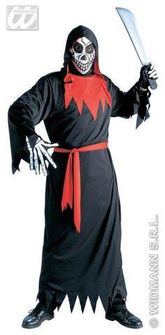 Disfraz de Evil Phantom : Disfraz de Evil Phantom    El disfraz incluye: Tunica con capucha, carta en tejido y cinto.    Composición: Tejido de punto  http://www.disfracessimon.com/disfraces-hombre-mujer-adultos/72-disfraz-evil-phantom-p-72.html