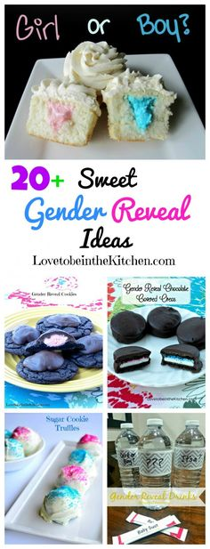 20+ Sweet Gender Reveal Ideas- So many fun ideas to announce the big news without saying a word! Perfect for baby showers and announcing pregnancy as well! #genderreveal