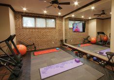 Best Home Gym Flooring & Workout Room Flooring Options Gym ideas Basement Workout Room, Home Gym Basement, Home Gym Garage, Workout Room Home, Gym Room At Home, Workout Rooms, Basement Ideas, Home Remodeling Contractors, Home Remodeling Diy