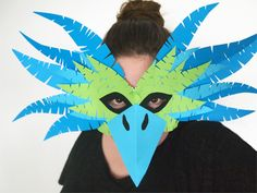 Design and Paper | DIY Cuckoo Masks for Carnival | http://www.designandpaper.com                                                                                                                                                                                 Mais