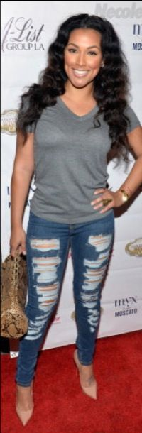 Shantel Jackson at viewing party cute casual