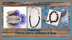 Bracelet & collier perles bois et pierre, une création mlaure-collection