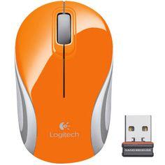 Logitech M187 - Mini Mouse Sem Fio Wireless 2.4ghz com Nano Receptor 1000dpi Orange