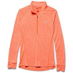 Under Armour Women's Tech 1/2 Zip Twist Top ($45) ❤ liked on Polyvore featuring activewear, activewear tops, under armour, tail activewear and under armour sportswear