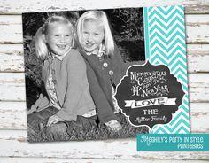 Christmas Card - Chalk. $10.00, via Etsy.