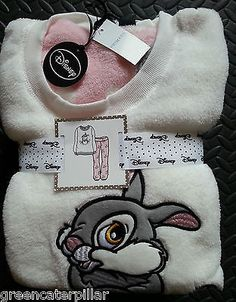 Primark Bambi Disney PYJAMAS Thumper Ladies Women SUPERSOFT PJ SET 6-20