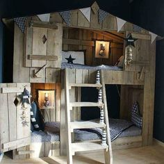 10 Fabulous Boys' House Beds Make a fantastic kids room and add a spark of fun with a house bed. From the outside, like a child's house with folding doors and inside a cozy bed.