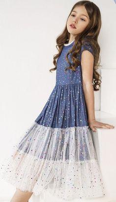 Frocks For Girls, Kids Frocks, Dresses Kids Girl, Little Girl Dresses, Kids Outfits, Frock Patterns, Girl Dress Patterns, Stylish Dresses, Cute Dresses