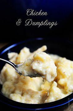 Southern Chicken And Dumplings With Chicken, Salt, Flour, Crisco Shortening, Buttermilk, Cold Water, Butter, Milk