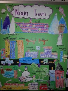 Holder's First Grade: Noun Town and Adventure Verbs Mrs. Holder's First Grade: Noun Town and Adventure Verbs Verb Activities For First Grade, Nouns First Grade, 1st Grade Writing, Grammar Activities, English Activities, First Grade Classroom, Grade 2, Adjectives Activities, First Grade Art