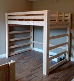 Bargain Bunks loft beds are the best around! Bunk Bed Decor, Bunk Bed Ladder, Loft Bunk Beds, Loft Bed Stairs, Build A Loft Bed, Loft Bed Plans, Murphy Bed Plans, Bunk Beds For Boys Room, Beds For Small Rooms