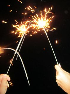 I do enjoy fireworks, but I don't see a way to bring them with me (or sparklers as in this photo) to go out tonight.