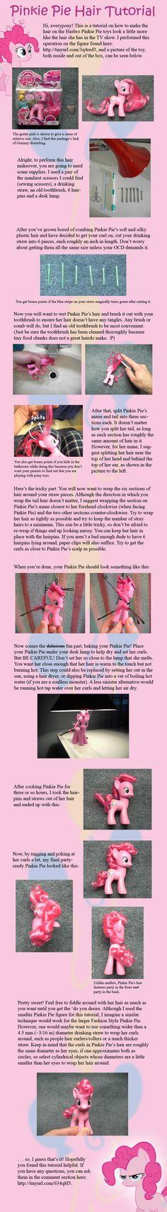 Pinkie Pie Hair Tutorial by ~countschlick on deviantART Awwwww how cute