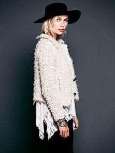 Wooly Sweater Jacket by Free People