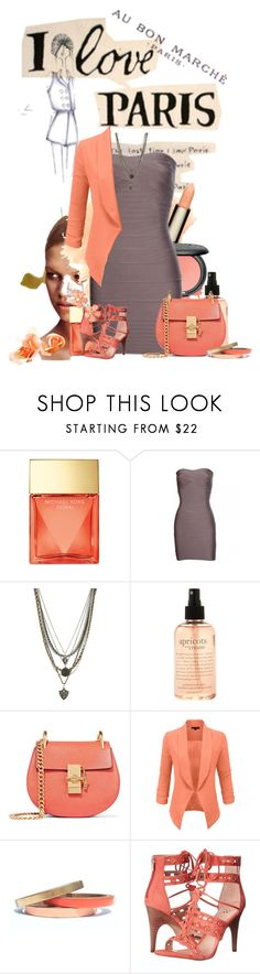 """I love paris"" by sasane ❤ liked on Polyvore featuring Michael Kors, Ettika, philosophy, Chloé, LE3NO, Voz Collective and Vince Camuto"
