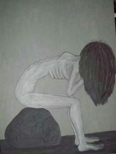 Inspired by models suffering from anorexia... Slim Sadness by Emily Foreback