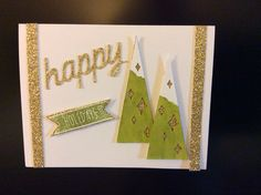 Stampin' Up! demonstrator Deb K's project showing a fun alternate use for the Watercolor Winter Simply Created Card Kit.