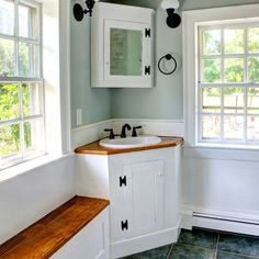 Bathroom corner vanity Design Ideas, Pictures, Remodel and Decor