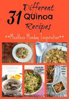 31 Different Quinoa Recipes | Meatless Monday Inspiration!!!        happydealhappyday.com