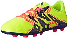 adidas Performance X 154 Soccer Shoe Little KidBig Kid YellowMidnight IndigoFlash Red 15 M US Little Kid ** More info could be found at the image url.