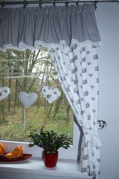 firanka Cabin Curtains, Kitchen Window Curtains, Shabby Chic Curtains, Country Curtains, Curtains With Blinds, Drapes Curtains, Cortinas Country, Princess Curtains, Kitchen Organization