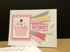A Cute Birthday Cupcake with the Close to My Heart Artiste Collection