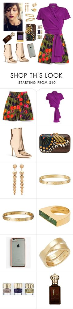 """""""Butterfly Effect"""" by shpurikova ❤ liked on Polyvore featuring Etro, Forever 21, Oscar de la Renta, Cartier, Katerina Makriyianni, GabbaGoods, Smith & Cult, Clive Christian and Tom Ford"""