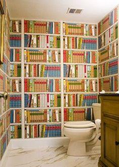 optical illusion: books wallpaper