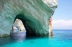 Blue Caves – Zakynthos, Greece - It is on the West coast where Zakynthos offers one of its most stunning views: the blue caves. Description from…