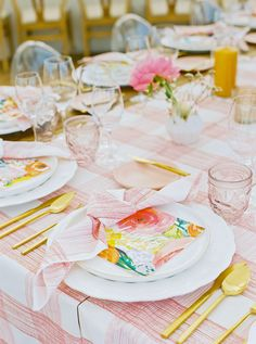 La Tavola Fine Linen Rental: Nuovo Ivory with Levi Pink Table Runners and Napkins | Photography: Perry Vaile, Event Planning & Design: Fox Events, Florals: Philo Floral, Venue: Kiawah Island Golf Resort, Paper Goods: Yonder Design, Calligraphy: J. Lily, Rentals: Emerson James, Ooh! Events and Snyder Event Rentals, Lighting: Technical Event Company, Draping: The Social Spool