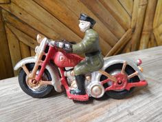 Hubley Style Motorcycle Patrol Toy