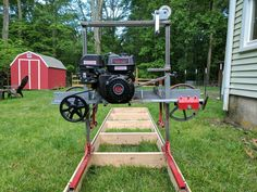 Learn Woodworking How I Built a Sawmill in the Backyard - Dennis Atwood recently got into the hobby of woodworking. Wanting a sawmill of his own, he built one with materials from his backyard. Woodworking Courses, Used Woodworking Tools, Woodworking School, Woodworking Workbench, Popular Woodworking, Woodworking Crafts, Woodworking Jigsaw, Woodworking Furniture, Diy Tools