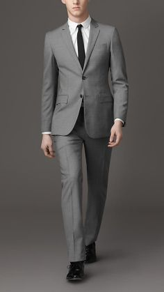 Modern Fit Wool Suit | Burberry