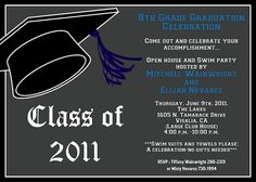 Boy Graduation Invitations and Announcements, Use for Any Grade by Cutie Patootie Creations  www.cutiepatootiecreations.com