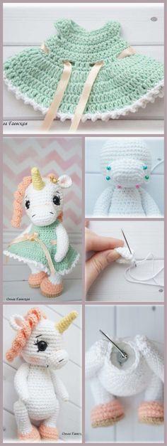 Crochet Little Unicorn #amigurumi #amigurumipattern #crochettutorial #amigurumitutorial