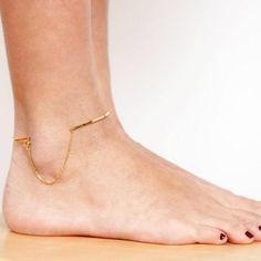 gold ankle bracelet- Vibe Harsløf