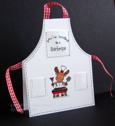 Riley Sneak Peek - BBQ Invitation by Stamps'nCoffee - Cards and Paper Crafts at Splitcoaststampers