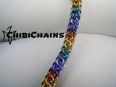 Bracelet - Flat Full Persian Back by Chibichains #Chainmail #chainmaille #Flatfullpersian #bracelet #Chibichains