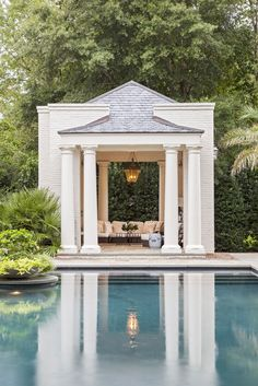 Having a pool sounds awesome especially if you are working with the best backyard pool landscaping ideas there is. How you design a proper backyard with a pool matters. Outdoor Rooms, Outdoor Living, Gazebos, Pool Cabana, Pool Landscaping, Backyard Pools, Pool Decks, Garden Pool, Bungalows