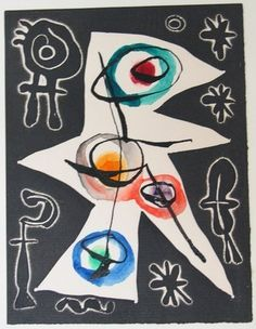 Joan Miró, Variant of plate from Le Désespéranto, Volume III from L'Antitête (1947-1949).