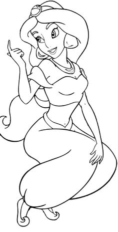 Coloring Pages Of Princess Jasmine