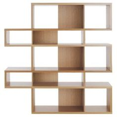Go beyond same-old same-old bookcase design with the Tema London Decorative Bookcase . Seven shelves set slightly off center effortlessly draw. Modular Bookshelves, Old Bookcase, Wooden Bookcase, Cube Bookcase, Bookcases, Bookcase White, White Shelving Unit, Open Shelves, Storage Shelves